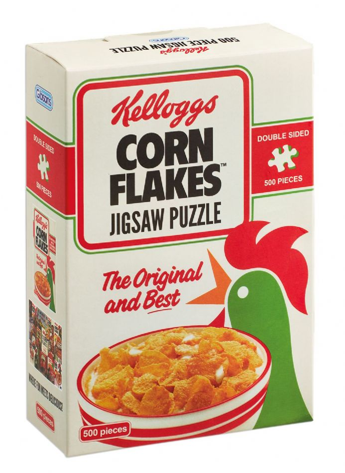 Kelloggs Cornflakes  - Double Sided 500pc Jigsaw Puzzle in a Box